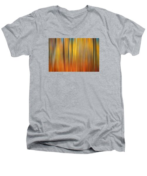 Fall Colors Digital Abstracts Men's V-Neck T-Shirt by Rich Franco
