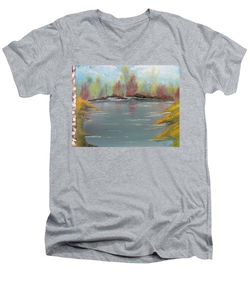 Fall Colors Men's V-Neck T-Shirt by Thomas Janos