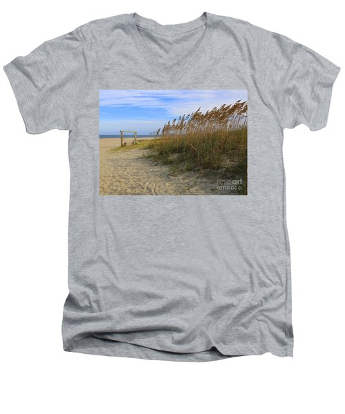 Fall Day On Tybee Island Men's V-Neck T-Shirt