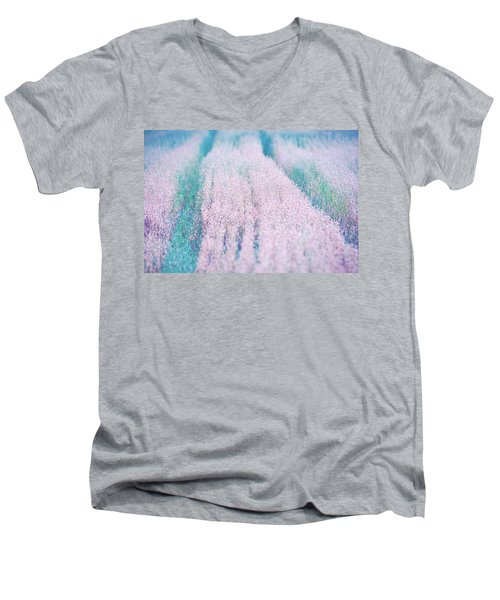 Men's V-Neck T-Shirt featuring the photograph Fall Field by Ari Salmela