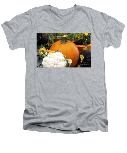 Men's V-Neck T-Shirt featuring the photograph Fall Harvest by Judyann Matthews