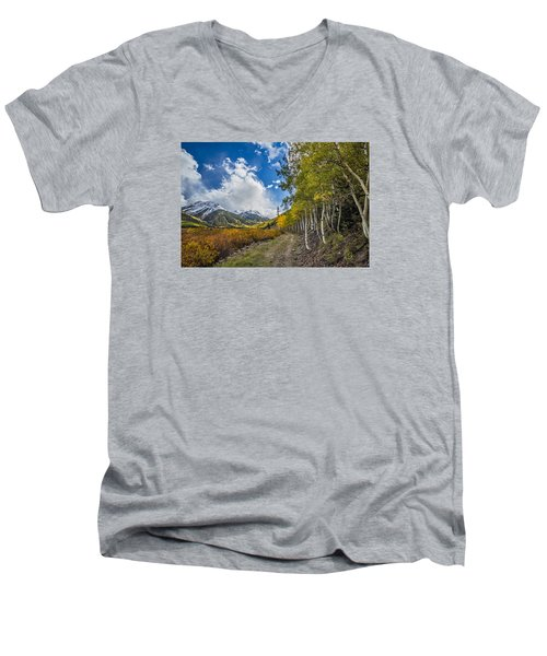 Men's V-Neck T-Shirt featuring the photograph Fall In Colorado by Wesley Aston