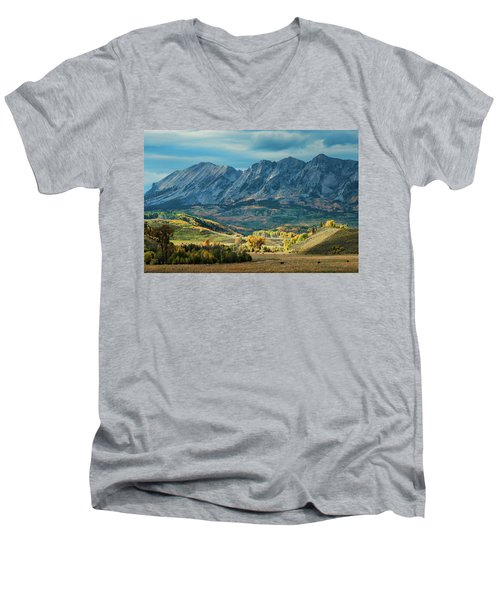 Men's V-Neck T-Shirt featuring the photograph Fall In Gunnison County by Dana Sohr