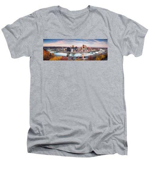 Fall In Pittsburgh  Men's V-Neck T-Shirt