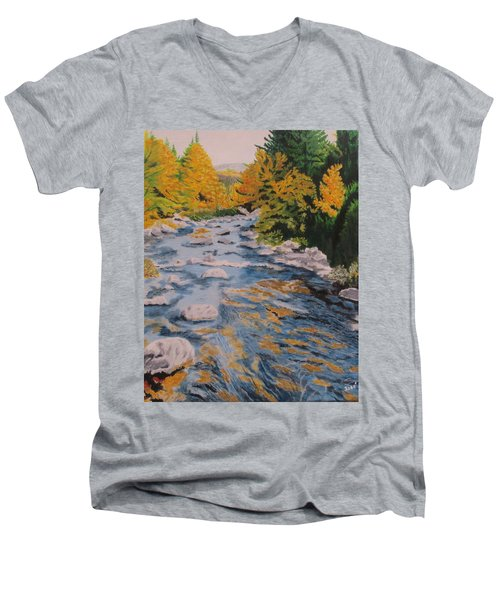 Fall Is Coming Men's V-Neck T-Shirt by Hilda and Jose Garrancho