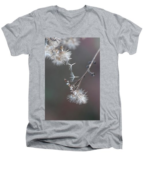 Men's V-Neck T-Shirt featuring the photograph Fall - Macro by Jeff Burgess