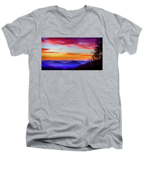 Fall On Your Knees Men's V-Neck T-Shirt by Karen Wiles