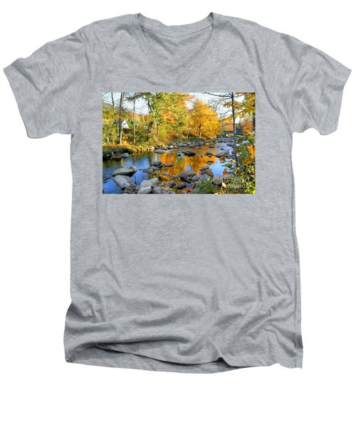 Fall Reflections In Jackson Men's V-Neck T-Shirt