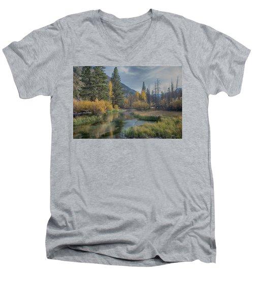 Fall Reflections Men's V-Neck T-Shirt