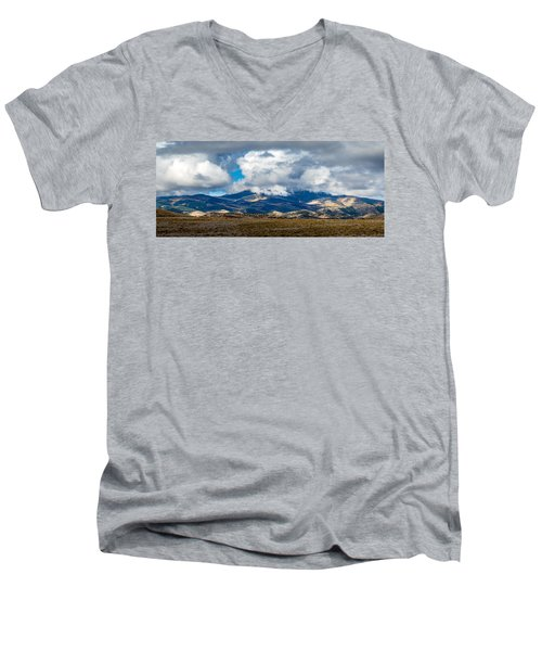 Fall Storm Clearing Off Pintada Mountain Men's V-Neck T-Shirt