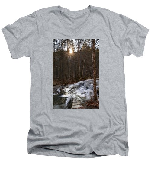 Fall Sunset On Stream Men's V-Neck T-Shirt