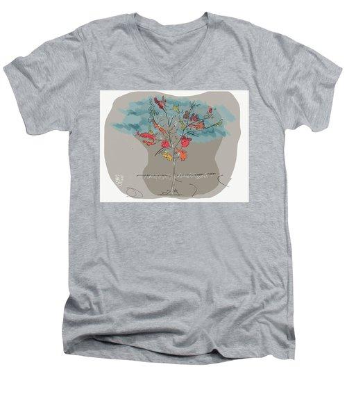 Fall To Peaces Men's V-Neck T-Shirt