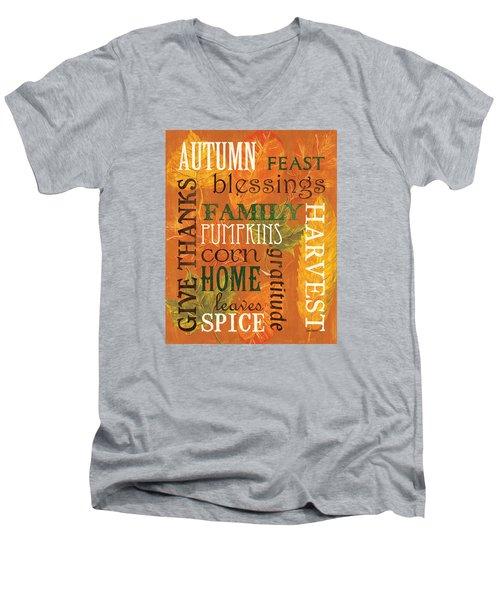 Fall Typography 1 Men's V-Neck T-Shirt