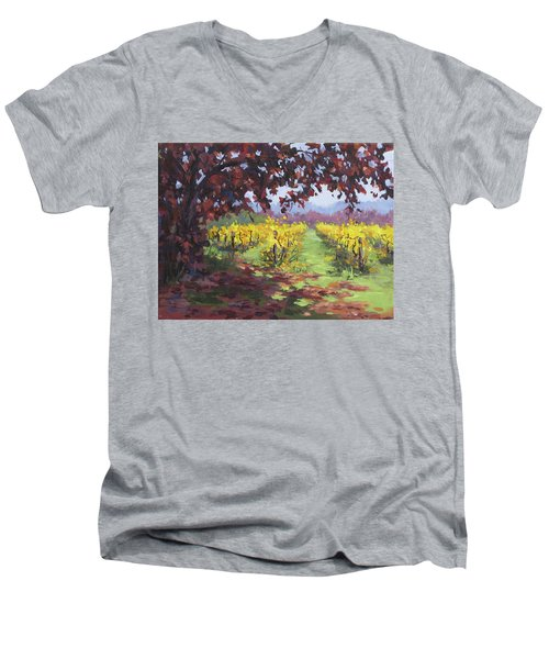 Fall Vineyard Men's V-Neck T-Shirt