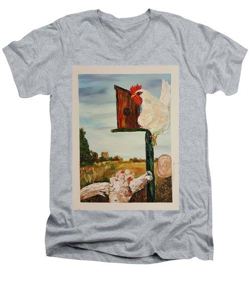 Fallen Egg 21 Men's V-Neck T-Shirt
