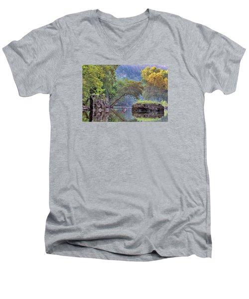 Fallen Giants Men's V-Neck T-Shirt by Robert Charity