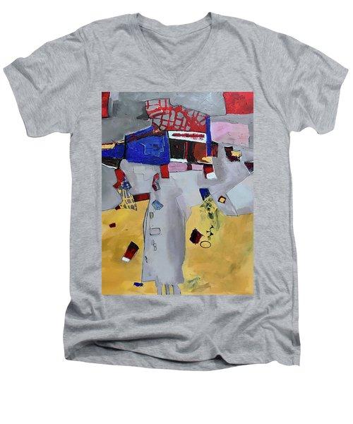 Falling City Men's V-Neck T-Shirt