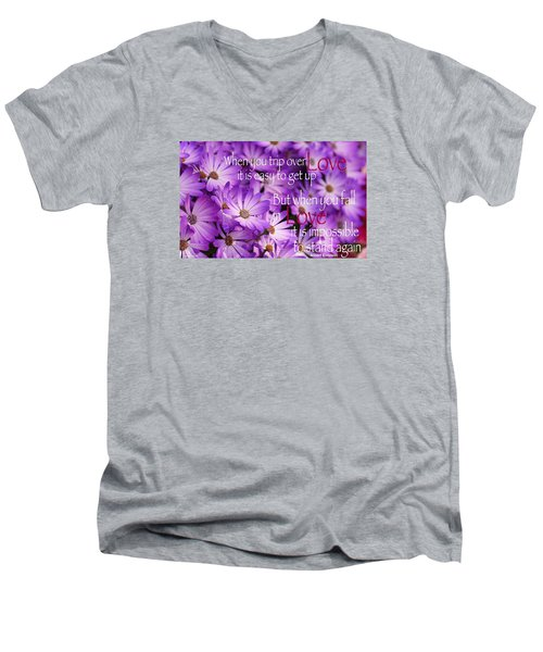 Falling First Men's V-Neck T-Shirt by David Norman