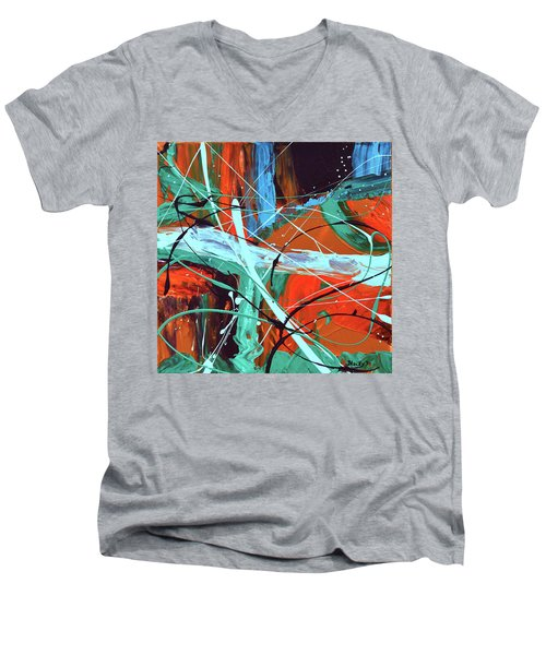 Falling Into Autumn Men's V-Neck T-Shirt by Donna Blackhall