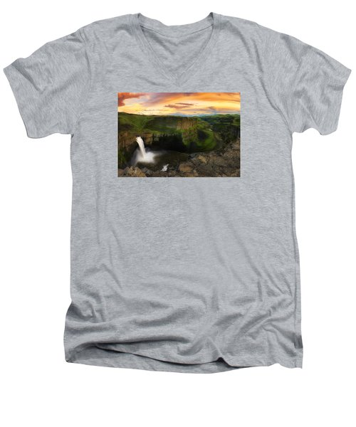 Falling Men's V-Neck T-Shirt