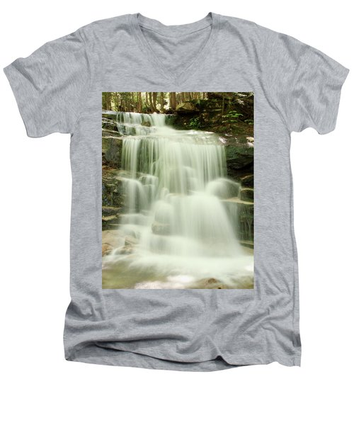 Falling Waters Men's V-Neck T-Shirt