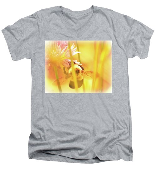 Fame Is A Bee Men's V-Neck T-Shirt by Bob Orsillo