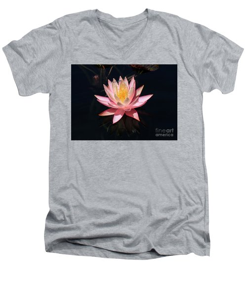 Familiar Bluet Damselfly And Lotus  Men's V-Neck T-Shirt