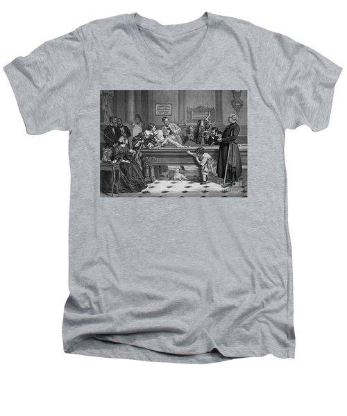 Family Billiards 1891 Men's V-Neck T-Shirt by Padre Art