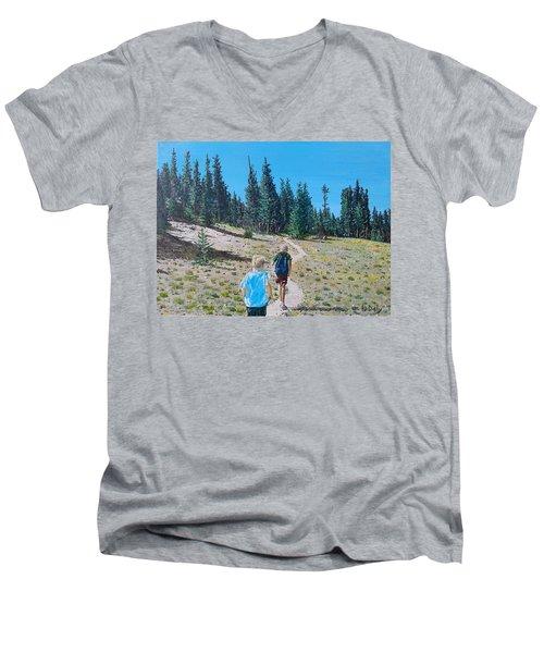 Family Hike Men's V-Neck T-Shirt