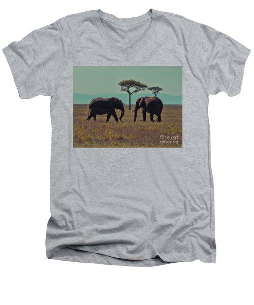 Family Men's V-Neck T-Shirt by Karen Lewis