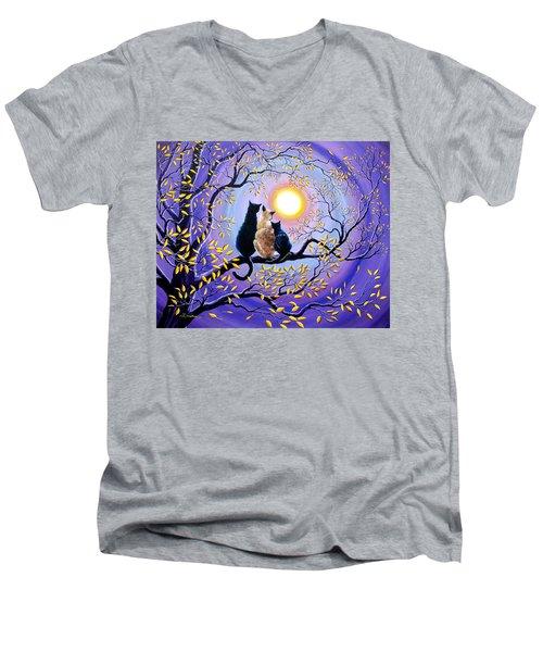 Family Moon Gazing Night Men's V-Neck T-Shirt