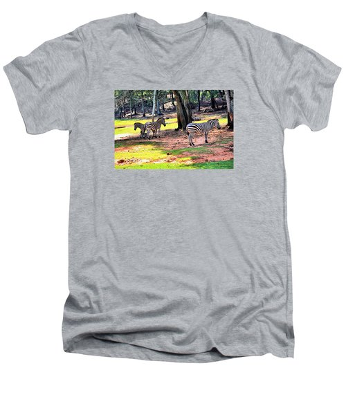 Family Of Four Men's V-Neck T-Shirt