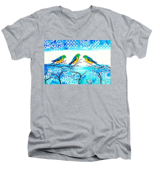 Family Time Men's V-Neck T-Shirt by Cathy Jacobs