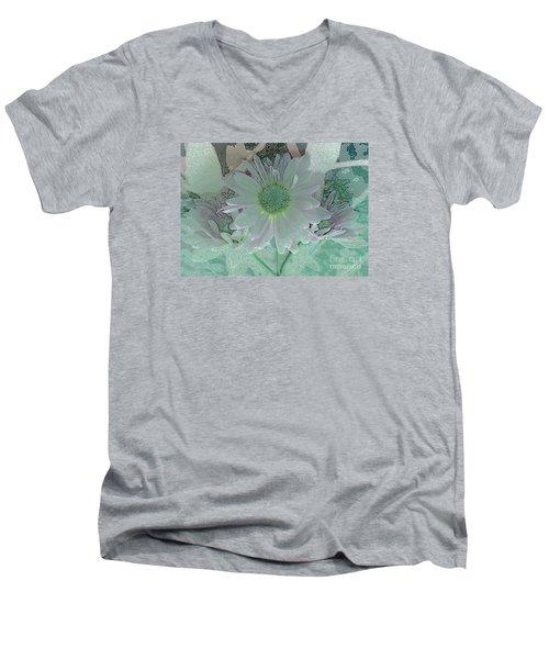 Fantasy Garden Men's V-Neck T-Shirt by Barbie Corbett-Newmin
