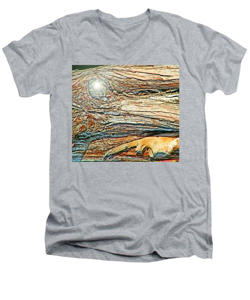 Men's V-Neck T-Shirt featuring the photograph Fantasy Island by Lenore Senior