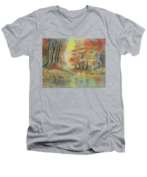 Fantasy Landscape Men's V-Neck T-Shirt