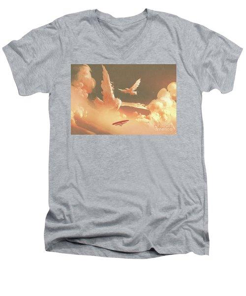 Fantasy Sky Men's V-Neck T-Shirt
