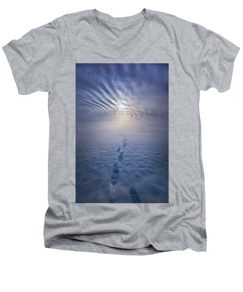 Men's V-Neck T-Shirt featuring the photograph Far And Away by Phil Koch