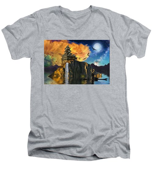 Far Away To The East Men's V-Neck T-Shirt