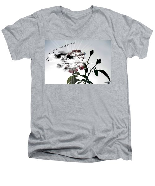 Far Beyond What Eyes Can See Men's V-Neck T-Shirt