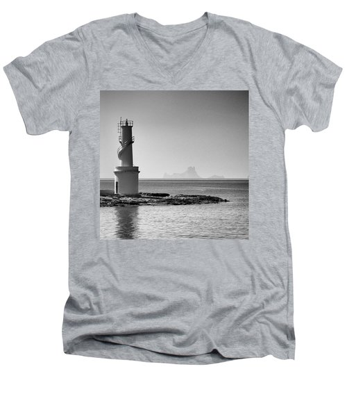 Far De La Savina Lighthouse, Formentera Men's V-Neck T-Shirt