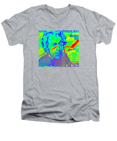 Far Out Funds Men's V-Neck T-Shirt