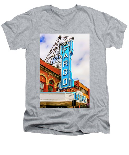 Fargo Theater Sign Men's V-Neck T-Shirt