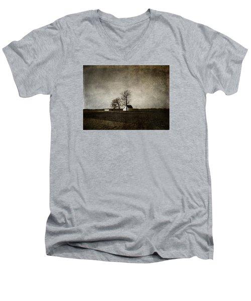 Farm Men's V-Neck T-Shirt by Cynthia Lassiter