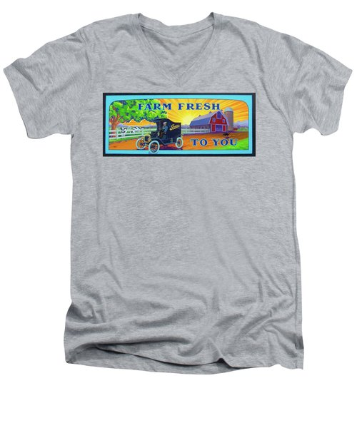 Farm Fresh To You  Men's V-Neck T-Shirt