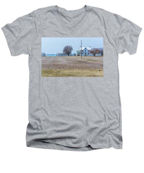 Farm On The Bay Men's V-Neck T-Shirt