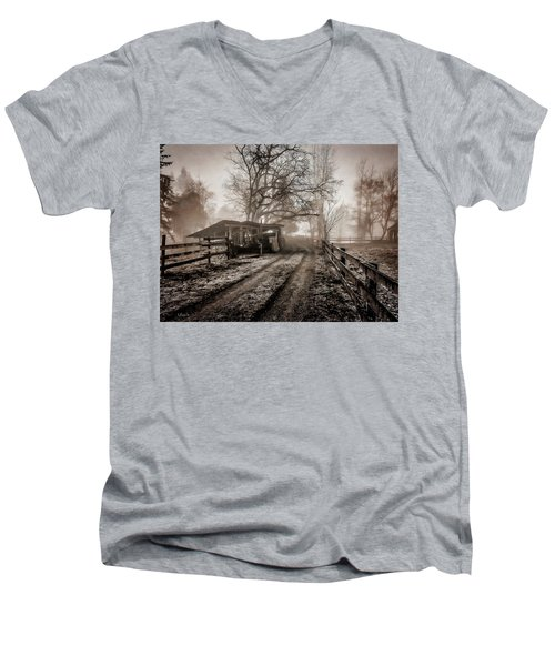 Farm Road Late Autumnl. Men's V-Neck T-Shirt