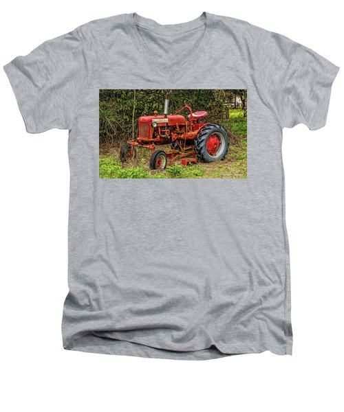 Men's V-Neck T-Shirt featuring the photograph Farmall Cub by Christopher Holmes