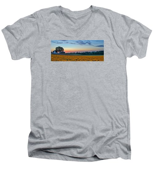 Farmhouse Among The Wallflowers Men's V-Neck T-Shirt
