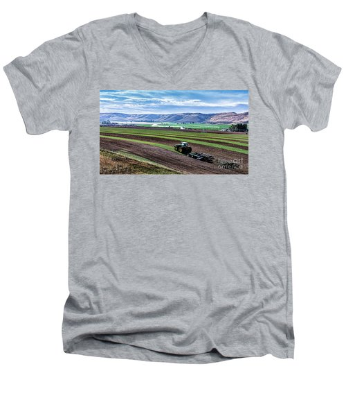 Farming In Pardise Agriculture Art By Kaylyn Franks Men's V-Neck T-Shirt